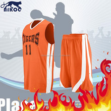 cheap youth and baby basketball uniform orange