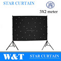 W & T LED de visión cortina de tela para la boda telón de fondo de 3 * 2 m, Mono color