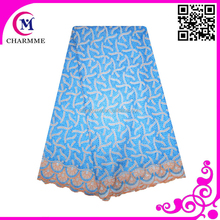 2015 best sales african wedding swiss lace cotton material SWL-009 many colors available