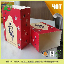 Pretty color paper bucket for food packaging