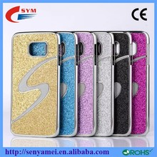 S Shape Case For Samsung Galaxy S6 Edge Back Cover Bling Bling Design Cell Phone Accessories