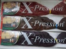 "X-Pression Premium Kanekalon Synthetic Braiding Hair Ultra Braid 82"""
