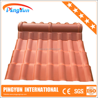 PVC material glazed roof tile for house