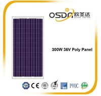 300W Poly crystalline PV solar panel for solar power, EU stock