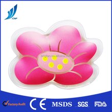 gel reusable flower shaped hot pack/air click hand warmer for hot compress