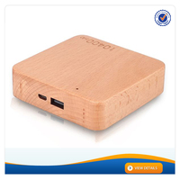 AWC911 Wooded Design Best Quality Power Bank 10400mAh Battery for Mobile Phone Charger for iphone 5