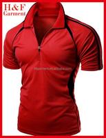 Comfortable design polo t shirts with Unique linear shoulder design for men