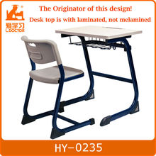 student desk and chair/metal wooden school furniture