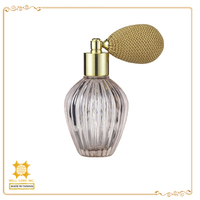 European classic golden fashion glass empty spray perfume bottle