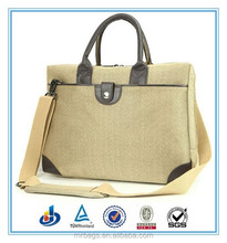 14 inch fashion designer canvas briefcase laptop bags with high quality
