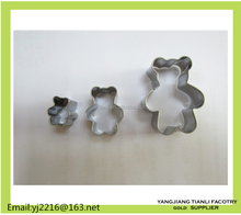 Stainless Steel 3-Piece mini animal Cake Decorating Pastry cutter