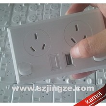 wall socket USB 5V 2.1A or 3A power point for Argentina