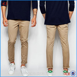 Men's Clothing Blank Fashion Good Quality Man Wear Skinny Chino Pants And Trousers