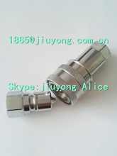 push and pull hydraulic quick disconnect coupling