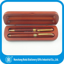 High class wood pen set for promo logo custom ball point pen