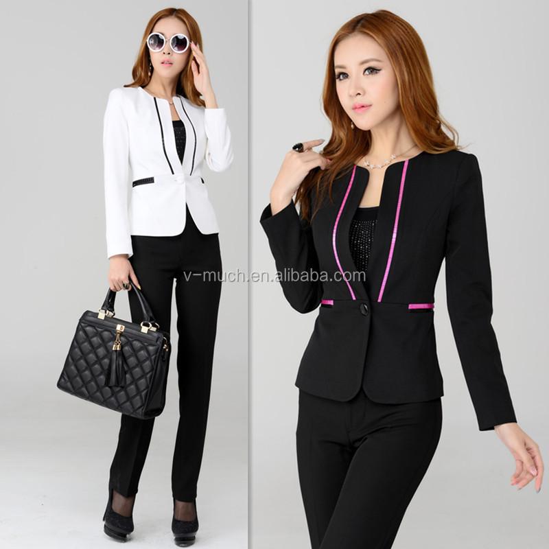 2014 latest design professional lady suitsoffice suits