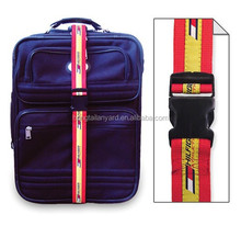 Nice looking adjustable luggage belts/ straps with locks lanyard