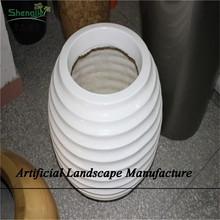 SJZJN 957 Hotel Decorative Flower Pots Fashion Design Handmade Fiberglass Pots