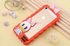 Cute Silicone Couples Duck Border-style Frame Case For iPhone 4 4S 5 5S 6