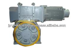 Reliable Japanese electric traction motor for elevator