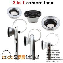 2015 popular product 180 degree fisheye wide angle macro lens 3 in 1 kit clip lens for cell-phone camera