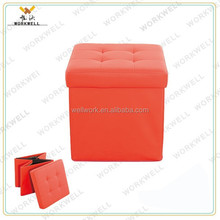 WorkWell foldable storage ottoman Kw-D9022