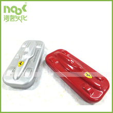 F1 racing car style tin pencil box gift for children with red and silver