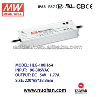 Meanwell 100W led driver 54V 0-10v dimming led driver constant voltage dimmable led driver 100w