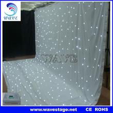 2 % discount WLK-2W White fireproof Velvet cloth White led curtain