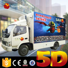 Cool!! Can move everywhere 6d cinema mobile truck with good quality