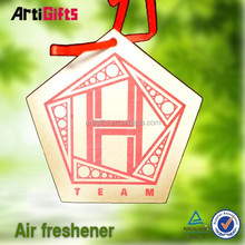 new product courty flag shape paper air freshener for cars manufactory