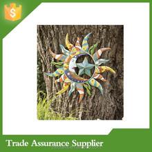 Metal Talavera Sun, Moon And Star Wall Art Wholesale Decor