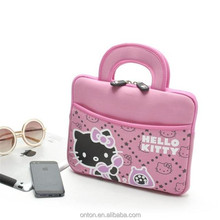 High quality waterproof with handles beautiful Hello Kitty neoprene laptop bags