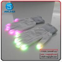 LED glove , party favor lights color changing led flash gloves