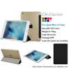 Wholesale New arrival Leather Smart Case for iPad mini 4 , For ipad mini 4 case, Transparent shell back cover case, Black