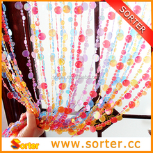 round plastic ball curtain for decoration