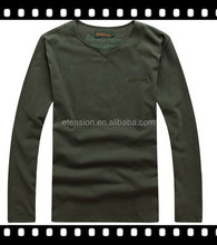 fashion style Clothing Manufacturer Mens embroidery Long Sleeve T-Shirt 100% cotton t-shirts blank