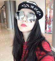 2015 New Fashion Sunglasses Women and Men Sunglasses Vintage Mirror Round Glasses Women Anti-uv Sun glass for Wholesale