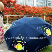 Supply fashion mini change color umbrella /change color magic umbrella