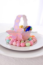 2013 New Favor Box Pastel Colours Paper Peaches and Grape Polka Dot Basket For Little Girls Party Favors