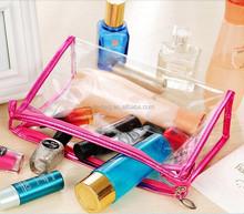 Clear Transparent Travel Storage Box Women Make up Pouch