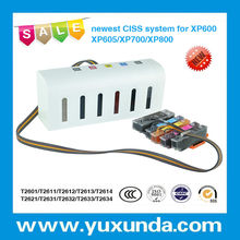 Hottest!! Yuxunda New Launched Continuous Ink Supply System CISS with resettable chip for Epson XP600 XP700 XP800 XP605