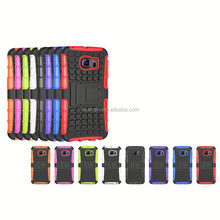 Hight Qulity PC+silicone belt clip holster case for samsung galaxy s6 edge best price