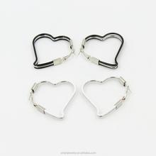 2015 Fashion Alloy Earring,Heart shape New Design Drop Earring