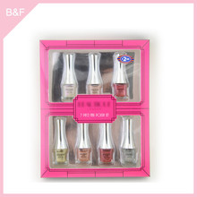 All kinds of color of nail polish frosted black glass nail polish bottle