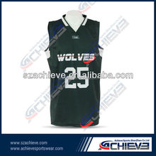 custom colorful Design hot selling basketball jersey