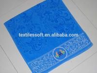 100 towels manufacturers jacquard velvet with embroidery towel wholesale bulk