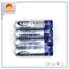 BTY 1000mah NI-MH AAA 1.2v rechargeable battery