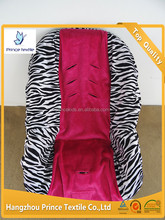 Baby Car Seat Cover Protector Teal Zebra With Hot Pink Minky Toddler Car Seat Cover