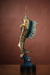 bronze fish sculpture for home decor